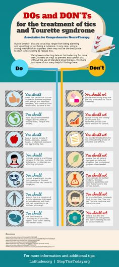 This helpful infographic provides practical tips on the treatment of Tourette Syndrome and other tic disorders.