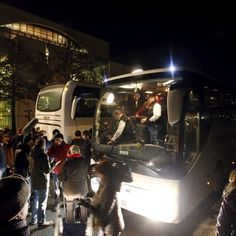 An irate politician in Bavaria sends a bus packed with dozens of refugees to Chancellor Angela Merkel's office in Berlin.