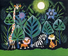 It's a Small Word concept art by Mary Blair.