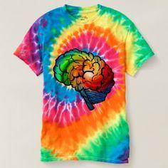 Neurodiversity Pride Tie-Dye T-shirt - personalize cyo diy design unique