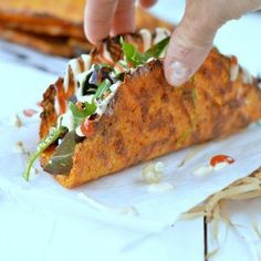 Super easy 4 ingredients Healthy Taco Shells recipe made from carrots! Make your own tasty soft shell taco in a minute with healthy ingredients only!