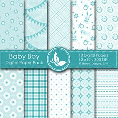 Baby Boy - 10 Digital papers