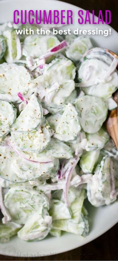 This German cucumber salad is easy, creamy and good. We love it year round but t… This German cucumber salad is easy, creamy and good. We love it year round but this cucumber salad is especially good with garden cucumbers! Salad Recipes Healthy Lunch, Cucumber Recipes, Salad Recipes For Dinner, Chicken Salad Recipes, Easy Salads, Easy Healthy Recipes, Recipe For Cucumber Salad, Salad Chicken, Fast Recipes