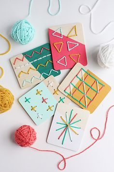 DIY Dipped Stitching Boards for Kids