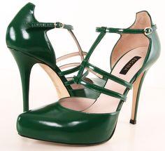 Escada emerald green pumps