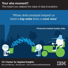 """When data analysis helped us land a big order from a rural area"" #ahamoment #IBMCAI #data #analytics"