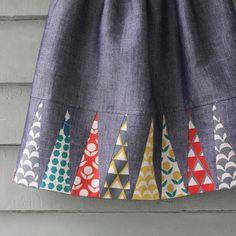 Backgammon Skirt Tutorial by Ellen Luckett Baker for I'm Feelin' Crafty.