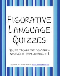 FREE figurative language quiz!