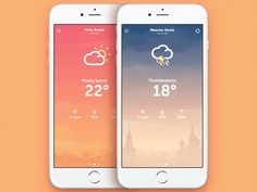 Hey guys! Here's a weather app concept. Made for fun and training :)