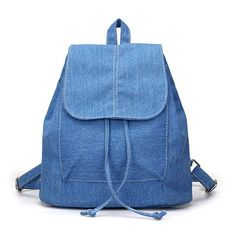 2017 New Denim Women Backpack Drawstring School Bags For Teenagers Girls Small Backpack Female Rucksack Bolsas Mochilas Feminina