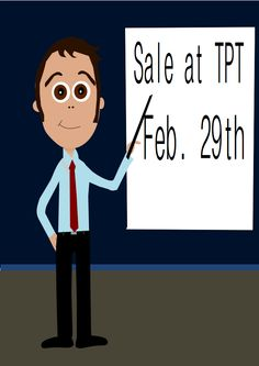 Today, Feb. 29th., I'm having a sale at my TPT store. Everything is 20% off.  You can also use this code (L2P9Y) to receive an additional 10% off! Thanks and Happy Leap Day! Yvonne Crawford