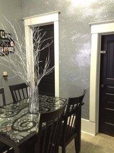 Finally did my own glitter wall! So easy! Looks beautiful! Oh, and made my own table.