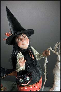 Witch Child on All Hallows Eve by Creager Studios