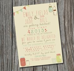Wedding Invitation - Printable, Custom - DIY Wedding - Vintage- i like how the dotted lines subtly split up the text Vintage Wedding Invitations, Printable Wedding Invitations, Wedding Stationary, Invitation Cards, Wedding Vintage, Quirky Wedding, Invitation Design, Boat Wedding, Wedding Games