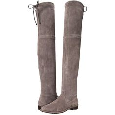 Stuart Weitzman Lowland Women's Pull-on Boots (6 805 SEK) ❤ liked on Polyvore featuring shoes, boots, knee-high boots, stretch suede boots, over-knee boots, slip on boots, suede boots and knee boots