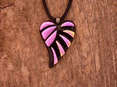 Handmade Dichroic Fused Glass Necklace by PureLightStudio on Etsy, $25.00