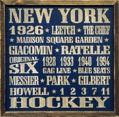 "Country Marketplace - Vintage #NewYorkRangers Wood Sign 18"" x 18"", (http://www.countrymarketplaces.com/vintage-new-york-rangers-wood-sign-18-x-18/)"