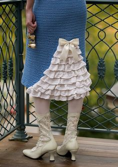 Inspiration: ruffle crochet skirt
