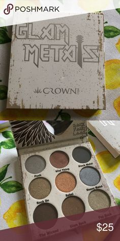 Crown Pro Glam Metals Palette Rock Your Look with the Crown Pro Glam Metals eyeshadow palette! These highly pigmented, ultra-blendable shadows make smokey eye looks a breeze! To take your look up a notch, wet your eyeshadow brush before application. This will intensify the foiling effect of the shadows, resulting in a sultry, smokey glam that will make you want to Rock the night away! Crown Pro Makeup Eyeshadow