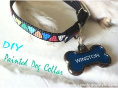 New puppy means new dog accessories! I am loving this transformation from a boring black nylon collar to a vibrant and trendy one - so...