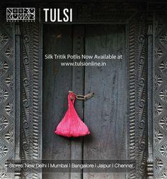 Silk Tritik Potlis #Bag #Silk