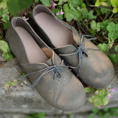 Top Quality Women's Shoes Genuine Leather Casual Lace up Coffee/Grey Flat Feet Round toe Rubber Sole Mori Girl Shoes ** This is an AliExpress affiliate pin.  Find out more on AliExpress website by clicking the image