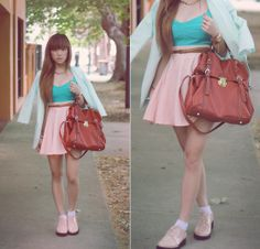 Marshmallow (by Willabelle Ong) http://lookbook.nu/look/4262387-Marshmallow