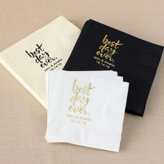 Paper Tableware - Personalized Exclusive Bridal Napkins by Beau-coup (($))