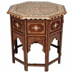 Antique Anglo Indian Inlaid Occasional Table