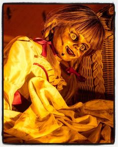 Photo by - Not the face youd like to see when you wake up. is a huge . Annabelle Creation, Annabelle Doll, Anna Bell, Vampires And Werewolves, Creatures Of The Night, Hello Dolly, Coming Home, Werewolf, I Fall In Love