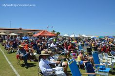 Audience seating in front of the stage at the 8th annual San Felipe Blues & Arts Fiesta held March 28th - 29th, 2014 #sanfelipe #sanfelipebluesandarts
