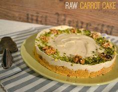 Roh veganer karottenkuchen