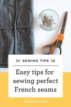 Learn to sew a French seam as efficiently and accurately as possible in this video tutorial. Sewing Basics, Sewing For Beginners, Sewing Hacks, Sewing Tutorials, Sewing Projects, Free Sewing, Hand Sewing, French Seam, Easy Sewing Patterns