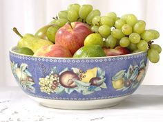Apples, Berries and Cherries Serving Bowl, Large from Milestone in Yardley, PA from Pink Daisy