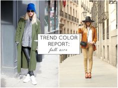 trend report fall autumn 2014 color brown green toffee army olive