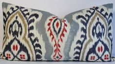 Kilim IKAT designer Lumbar size pillow cover Throw pillow in