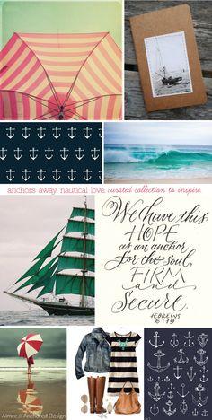 anchors away. nautical love.