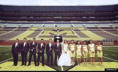 big house michigan stadium u of m wedding ann arbor
