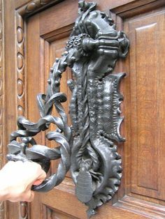 Unusual door knocker