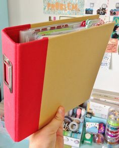 Get a scrapbook that you can easily add pages to.