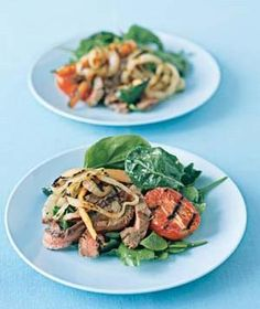 Grilled-Everything Salad from realsimple.com #myplate #protein #vegetables