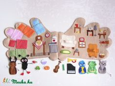 Новини Winter Crafts For Kids, Diy For Kids, Felt Crafts, Diy And Crafts, Felt Kids, Felt House, Quiet Book Patterns, Felt Quiet Books, First Birthday Gifts