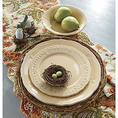 Dinner Plates, Salad Plates & Bowls, Provence Set of 4 from Through the Country Door®