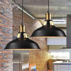 IN STOCK: Set of 2 Vintage Industrial Pendant Ceiling Lamps LED Retro Metal Chandelier with Lampshade Luminaire Ceiling Lighting Black cheap. Huge choice among 0 Suspension, chandelier rnrnSource by ateliercrafty Lustre Industrial, Industrial Style Lighting, Vintage Pendant Lighting, Industrial Pendant Lights, Retro Lighting, Modern Pendant Light, Vintage Industrial, Pendant Lamps, Loft Industrial