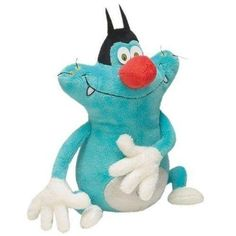Black Friday Deal Plushtoy 10'' Oggy and The Cockroaches with mouth shut from  Cyber Monday