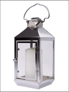 £15.50 Shearer Candles Stainless Steel Lantern - Stylish Outdoor Living!