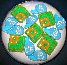 Tampa Bay Rays Baseball cookies