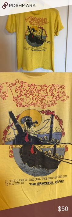 The Grateful Dead vintage tee Thin bright yellow tee Tops Tees - Short Sleeve