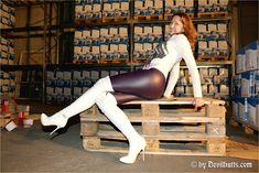 White Leather Boots, White Boots, Ballet Shoes, Dance Shoes, High Knees, Lady, Heels, Model, Vintage