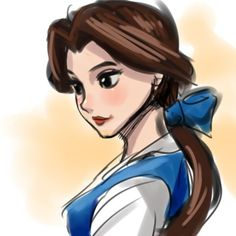 Belle - Beauty and the Beast Film Disney, Disney Fan Art, Disney Magic, Disney Style, Disney Sketches, Disney Drawings, Cute Disney, Disney Girls, Fanart